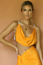 BABE TOP - TANGERINE DREAM SILK