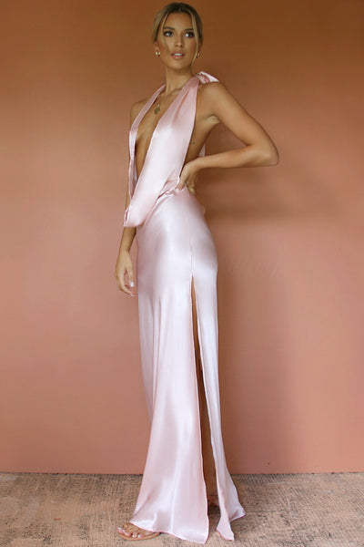 BELLA GOWN - SOFT PINK SILK