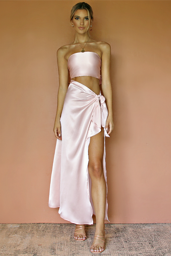 CHARLIE GOWN - SOFT PINK SILK