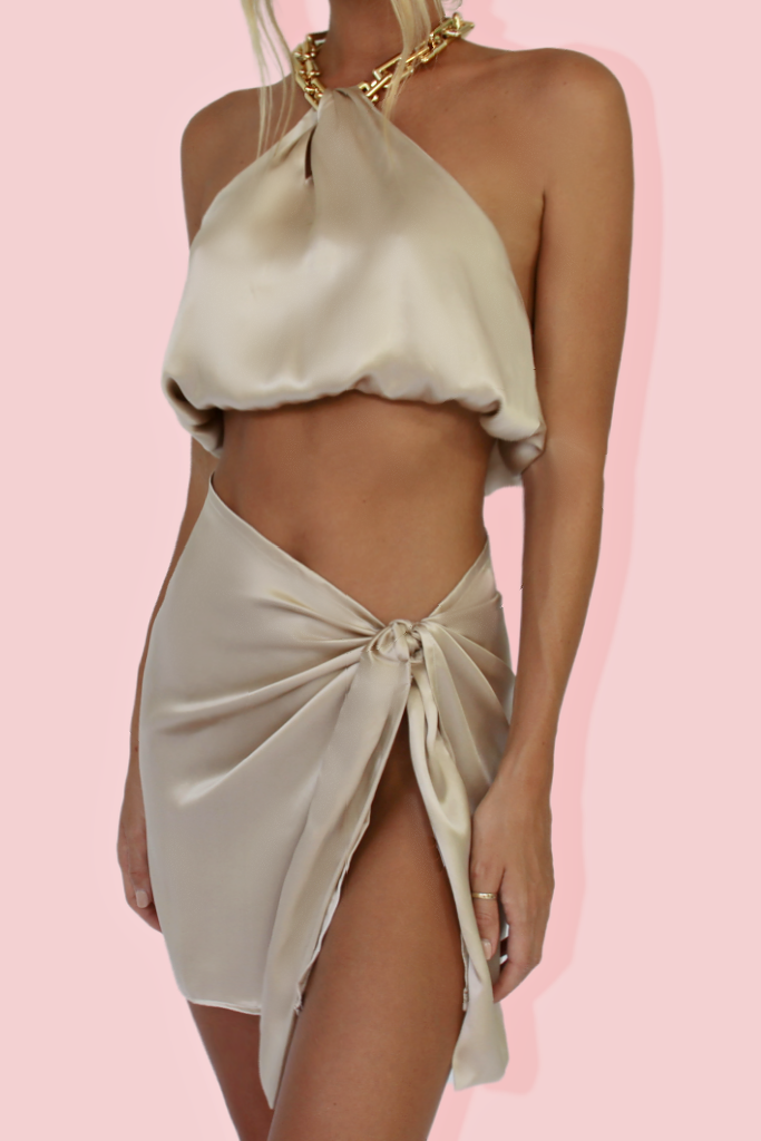 CLAUDIA SET - OYSTER SILK