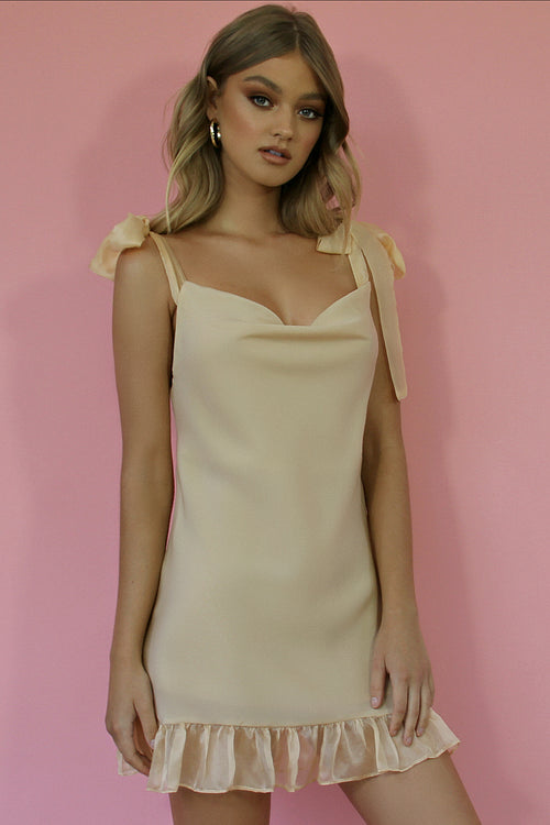 DELILAH MINI DRESS - NEARLY NAKED SILK