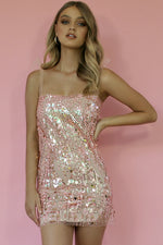 ELLE MINI SLIP - EMBELLISHED PINK DIAMONDS