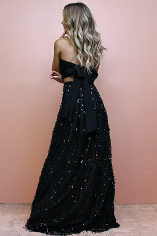 EMBELLISHED NOIR - TWO PIECE GOWN