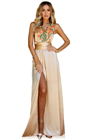 SILK CHAMPAGNE - FLORENCE MULTIWAY GOWN