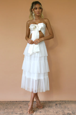 FREYA TWO PIECE MIDI - PEARL