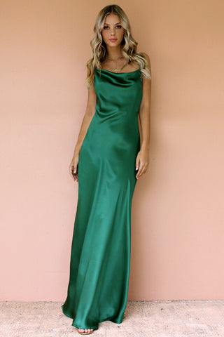 EMERALD SILK - HAVANNA SLIP GOWN