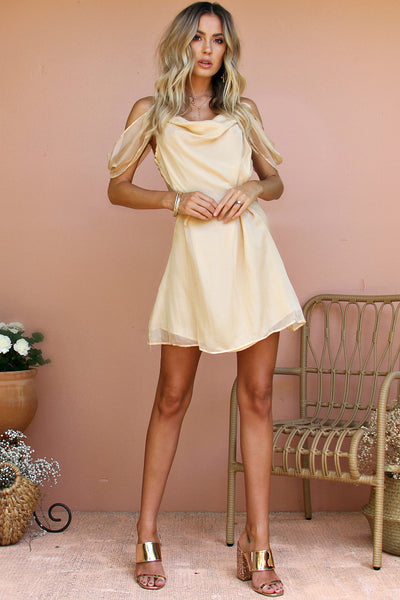 096a3b26e2 SALE - CHAMPAGNE SILK - JULIET MINI DRESS