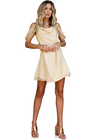 CHAMPAGNE SILK - JULIET MINI DRESS