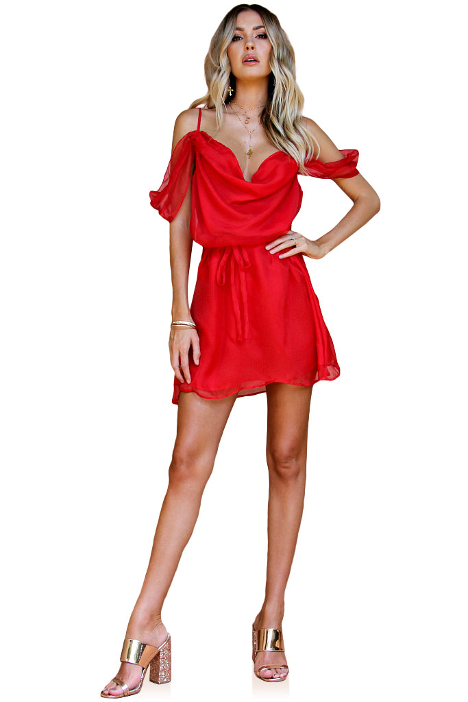 SCARLET SCANDAL SILK - JULIET MINI DRESS