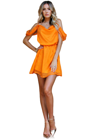 TANGERINE DREAM SILK - JULIET MINI DRESS