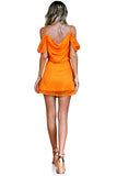 SALE - TANGERINE DREAM SILK - JULIET MINI DRESS