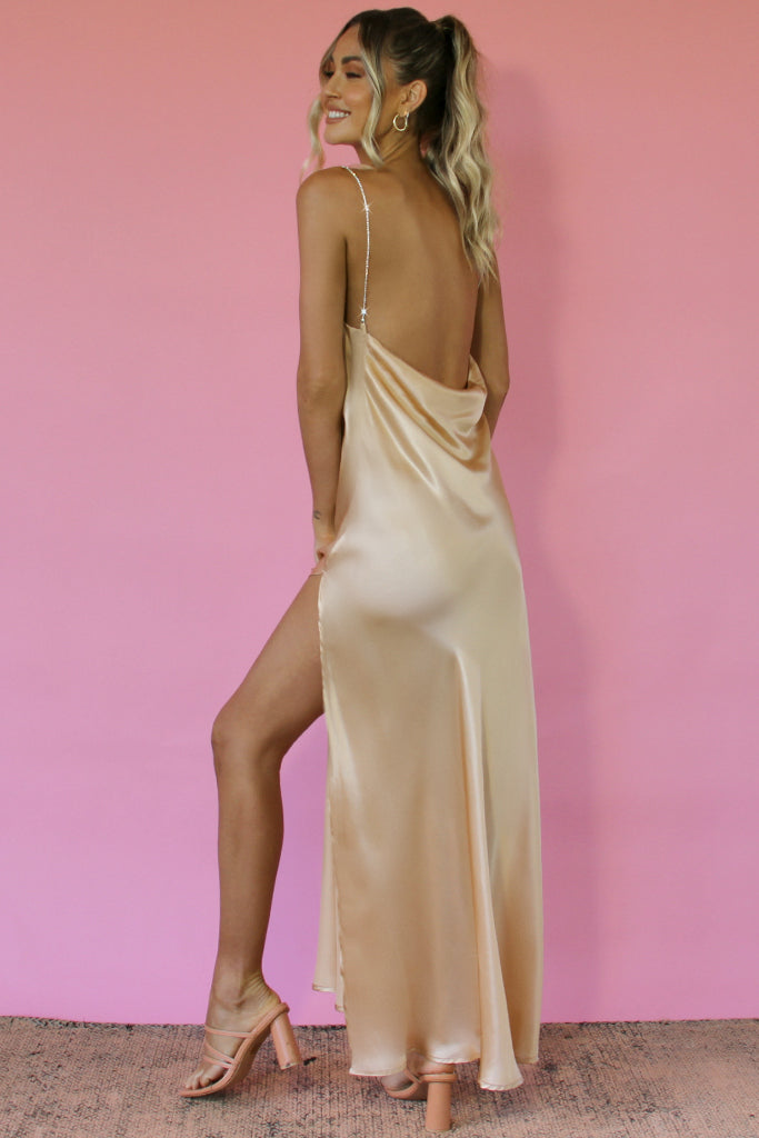 CHAMPAGNE SILK - KITTY SLIP GOWN