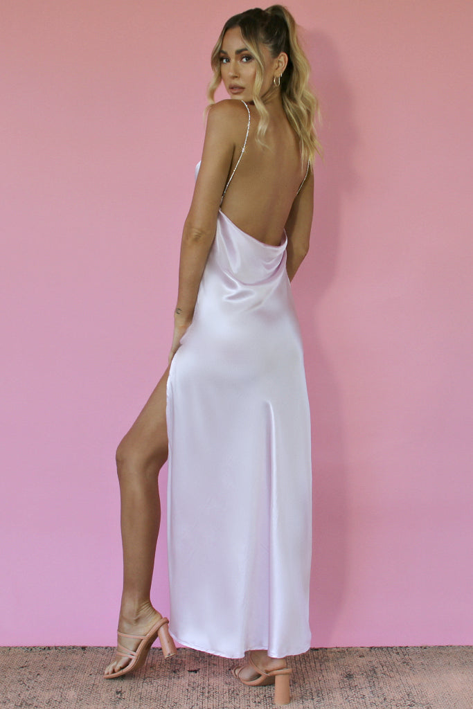 LAVENDER SILK - KITTY SLIP GOWN