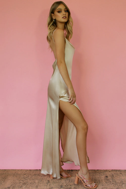 OYSTER SILK - KITTY SLIP GOWN