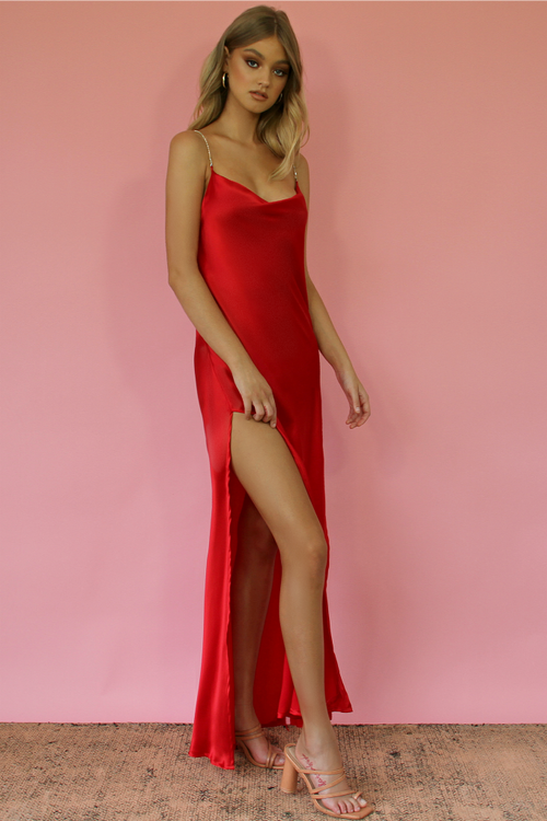 ROUGE SILK - KITTY SLIP GOWN
