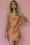 CORAL SILK - KITTY SLIP MINI DRESS