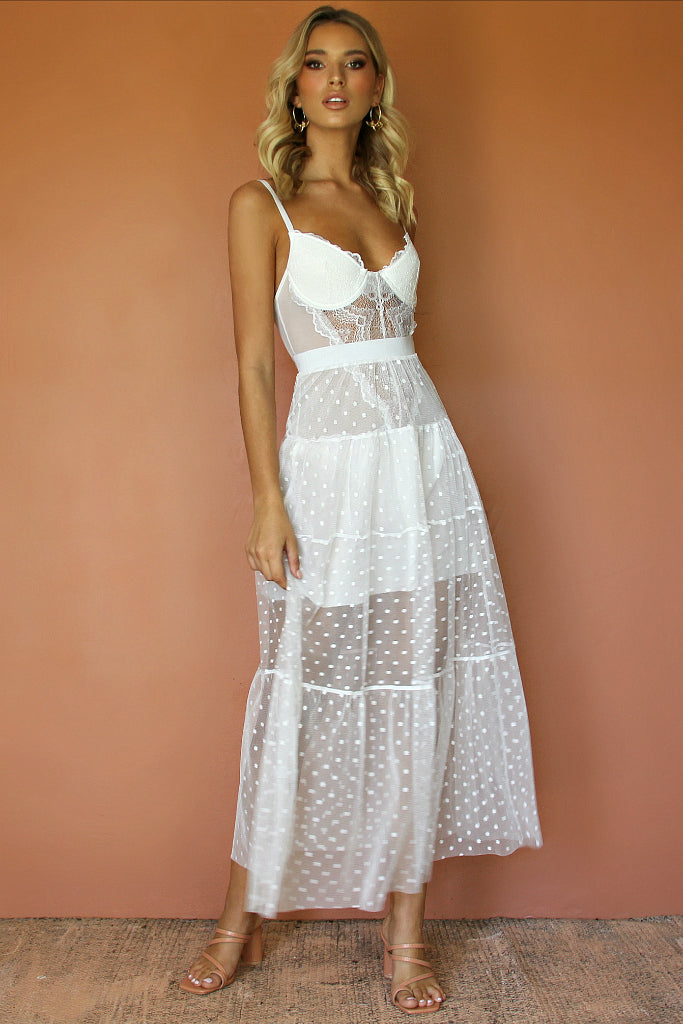 LOU LOU TWO PIECE MIDI - PEARL