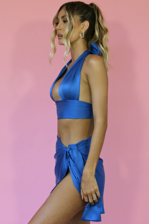 MARGARITA SET - COBALT SILK