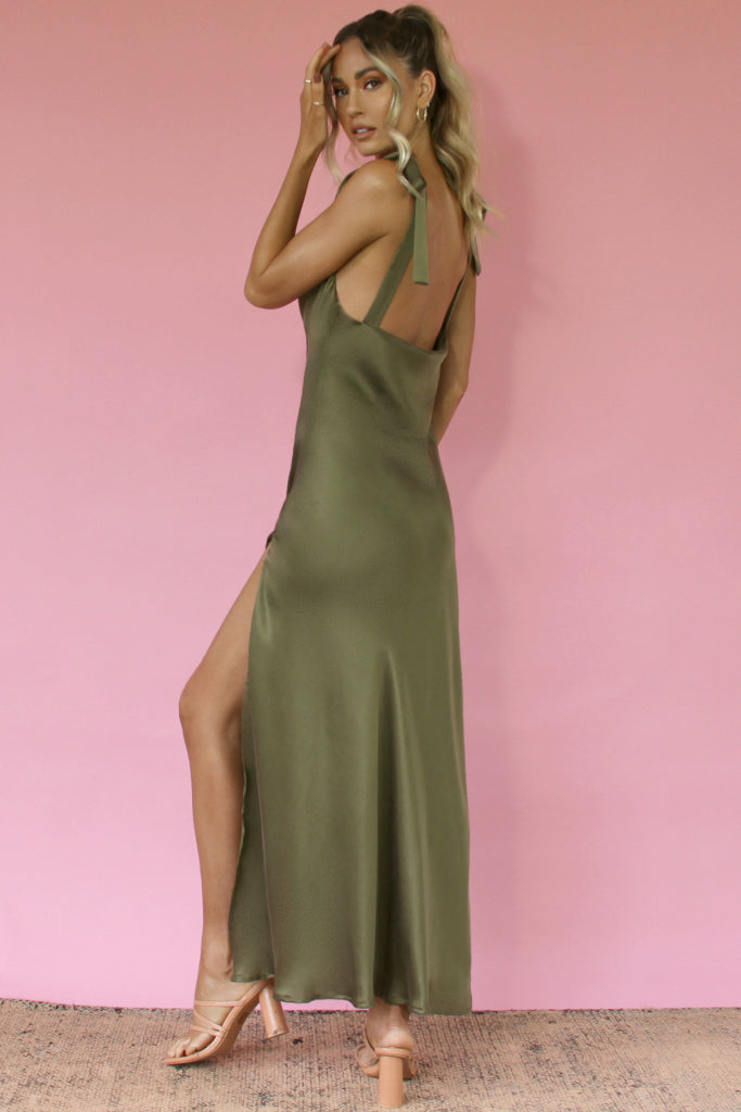 MARIA GOWN - FOREST SILK