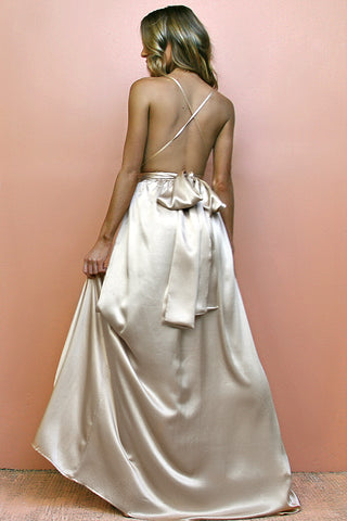 SATIN SILK OYSTER - MULTIWAY GOWN