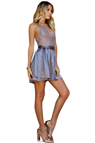 PRIMROSE TWO PIECE MINI - SLATE SILK
