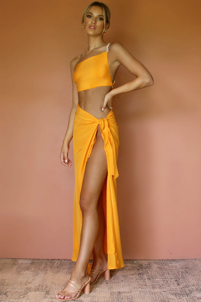 ROSIE SKIRT - TANGERINE DREAM SILK