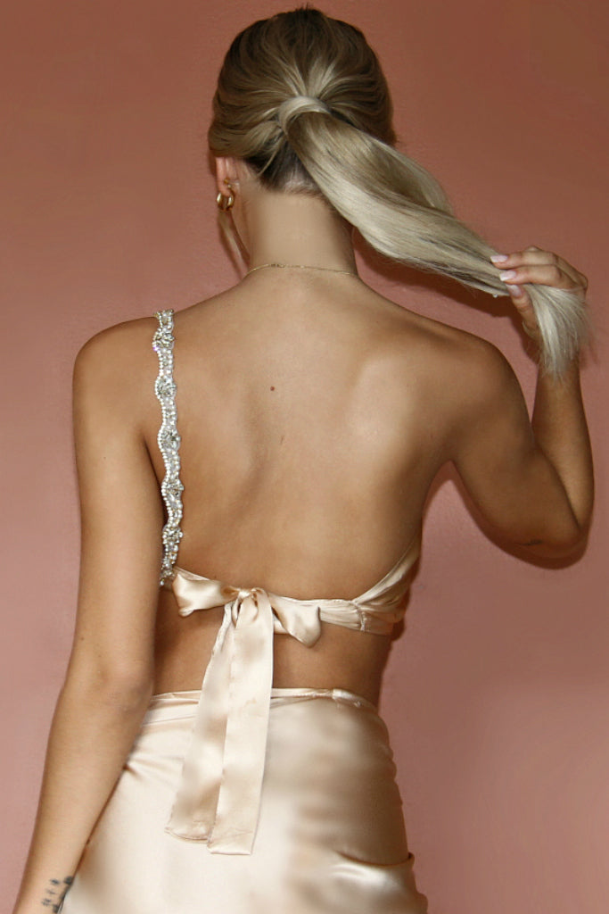 ROSIE TOP - CHAMPAGNE SILK