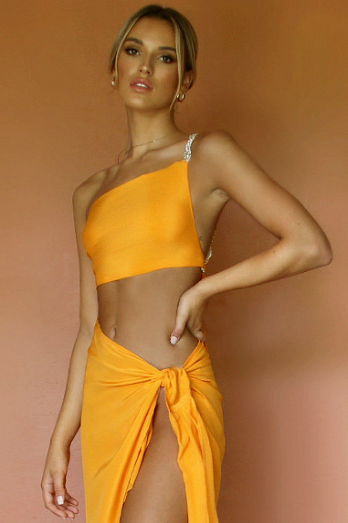 ROSIE TOP - TANGERINE DREAM SILK