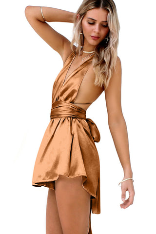 SUEDED SILK FOX - MULTIWAY PLAYSUIT