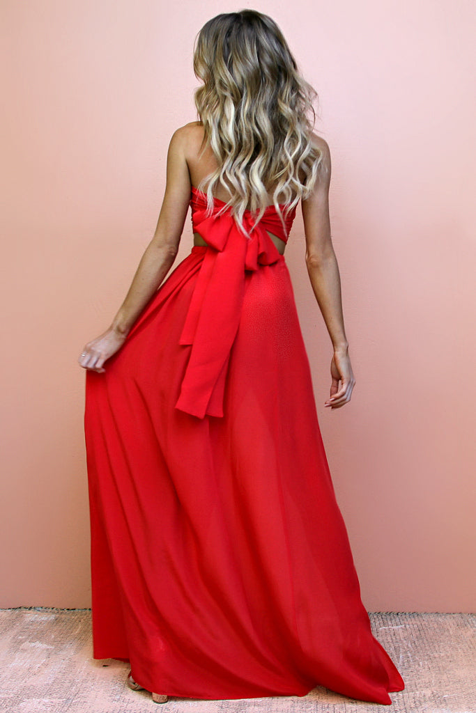 SCARLET SCANDAL - TWO PIECE GOWN