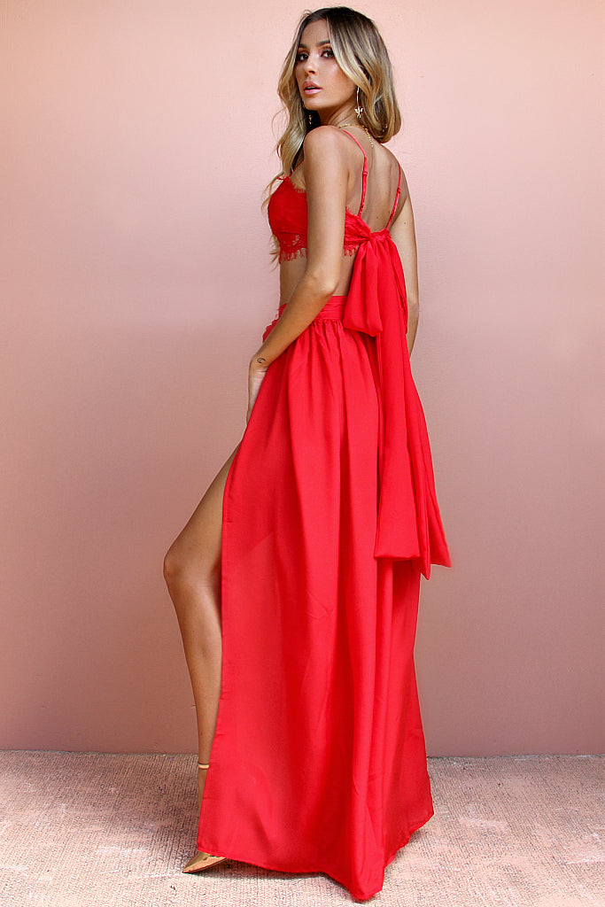 SILK SCARLET SCANDAL - VALENTINE LACE TWO PIECE GOWN