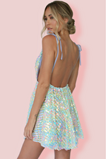 VERA MINI DRESS - EMBELLISHED RIVIERA