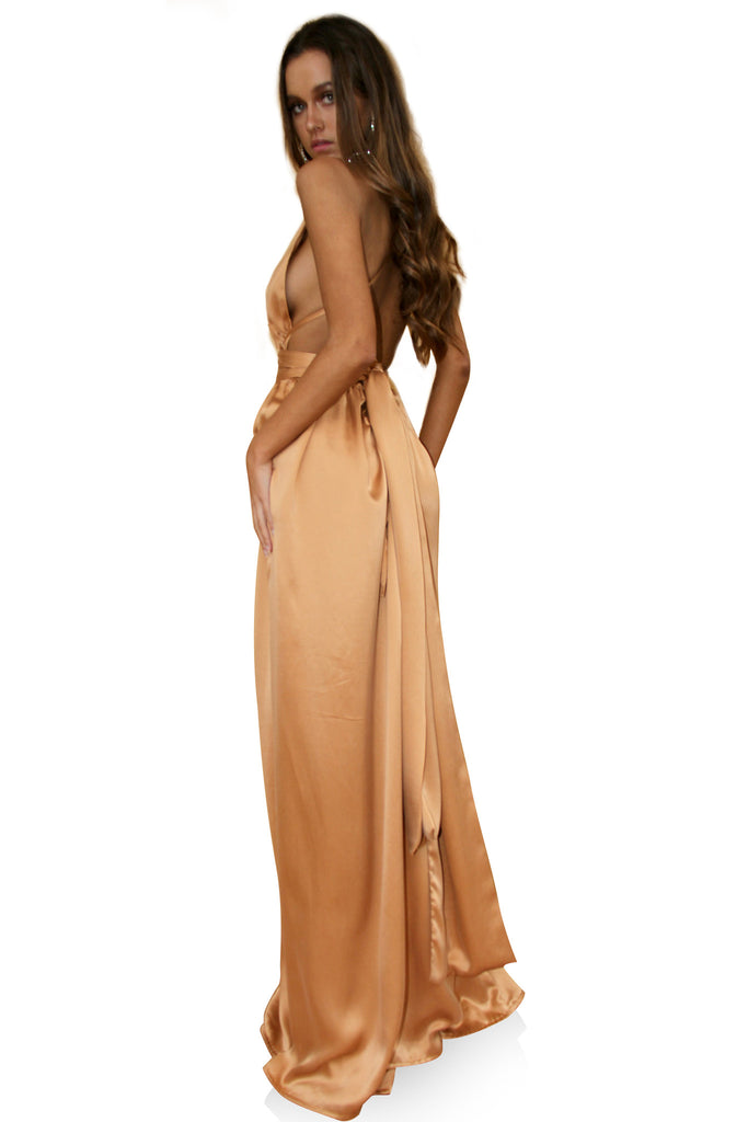 SUEDED SILK FOX - MULTIWAY GOWN