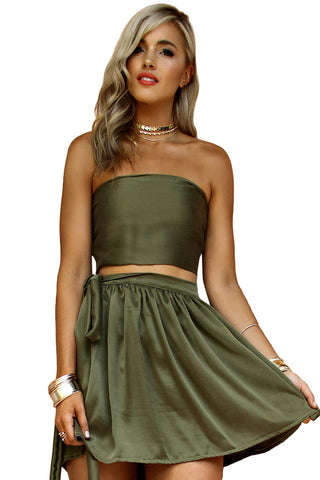 SUEDED SILK FOREST - WRAP TWO PIECE MINI