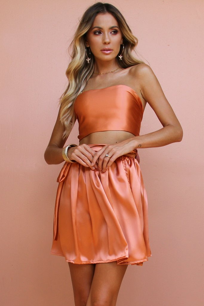 CORAL SILK - WRAP TWO PIECE MINI