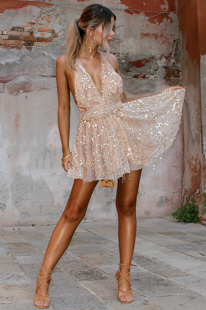 EMBELLISHED FOX - MULTIWAY MINI DRESS
