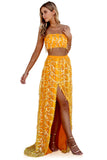 EMBELLISHED TANGERINE DREAM - TWO PIECE GOWN