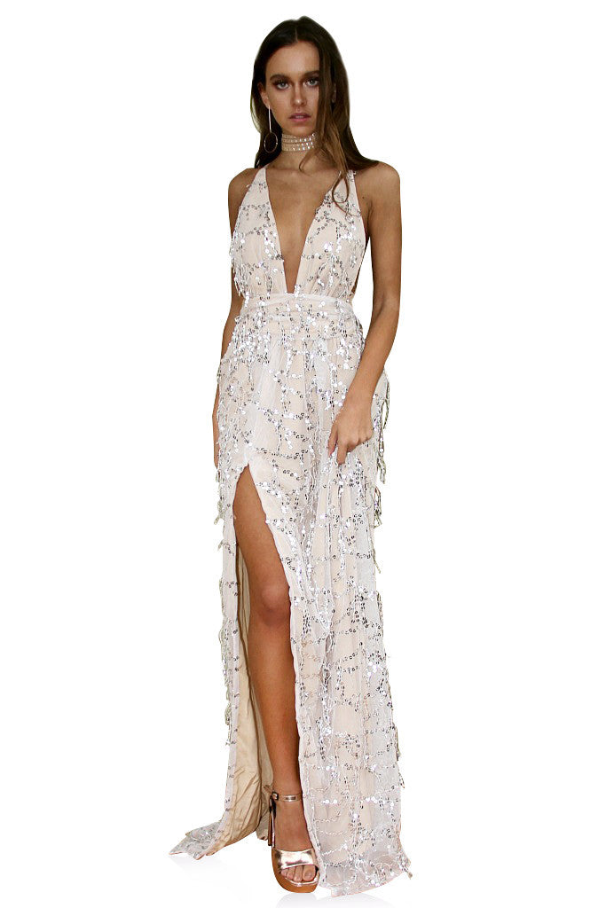 EMBELLISHED NEARLY NAKED - MULTIWAY GOWN