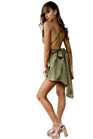 SUEDED SILK FOREST - MULTIWAY PLAYSUIT