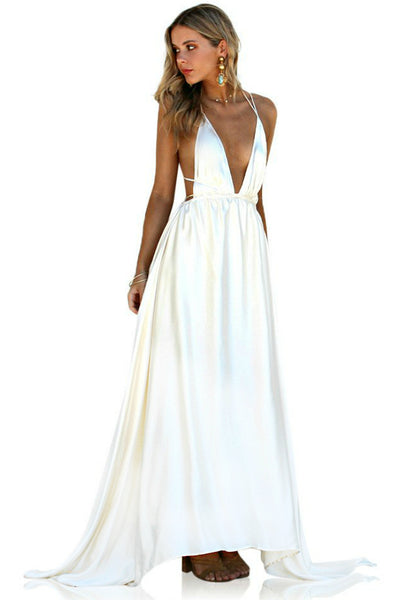 SATIN SILK PEARL - DOUBLE STRAP GOWN
