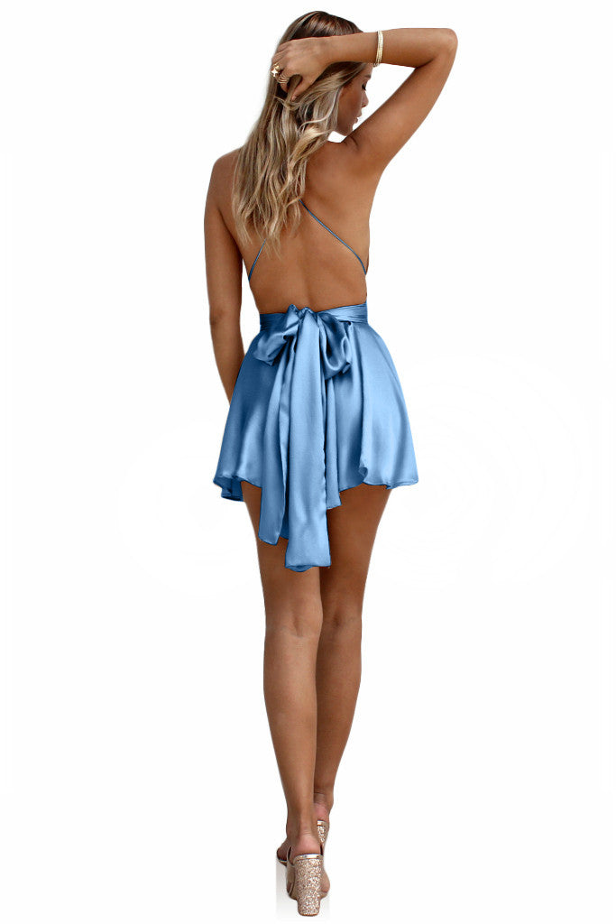SUEDED SILK COOL - TEASER MINI DRESS