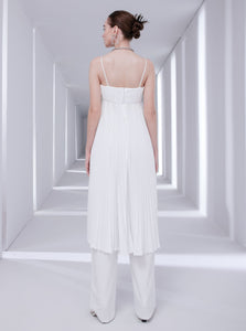 High-waisted trousers in white for women by Klei Studio.
