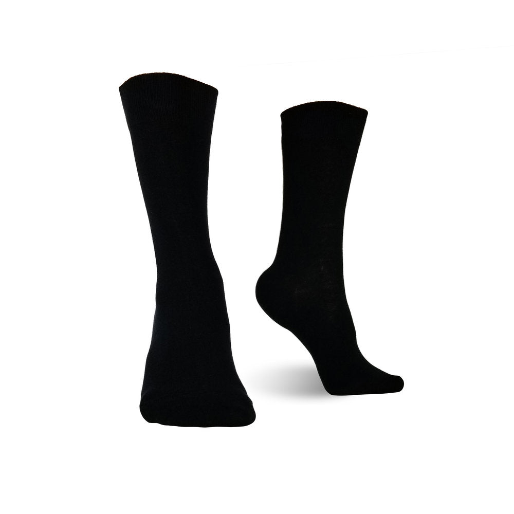 BLACK DRESS SOCKS 6 PAIRS