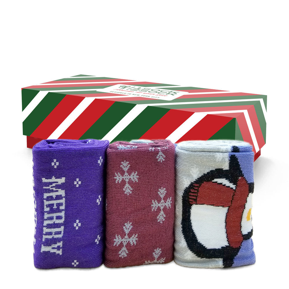 CHRISTMAS SOCKS PENGUIN GIFT BOX