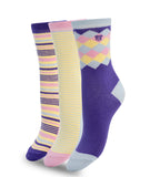 COLORFUL COTTON PURPLE SET SOCKS
