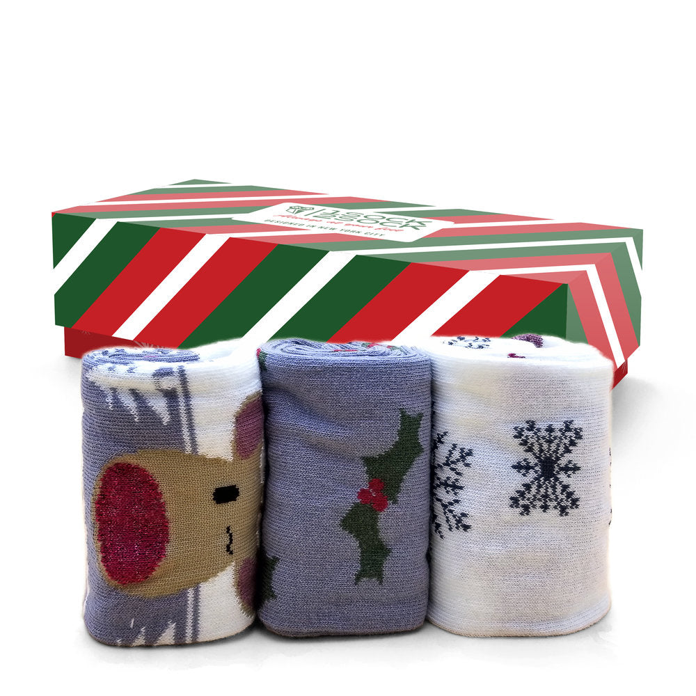 WOMEN'S CHRISTMAS SOCKS JINGLE ALL THE WAY GIFT BOX