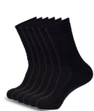 ATHLETIC CREW BLACK SOCKS