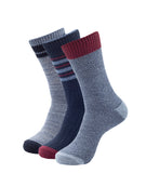 COMFORT BOOT SOCKS 3 PACK BLUE