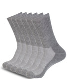6 PACK ATHLETIC CREW SOCKS GREY