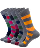 BAMBOO CREW SOCKS STRIPE GREY
